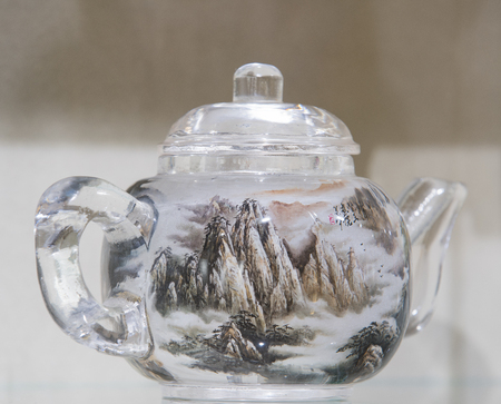 snuff: Hengshui City, Hebei Province, China, painting art museum, painted snuff bottles