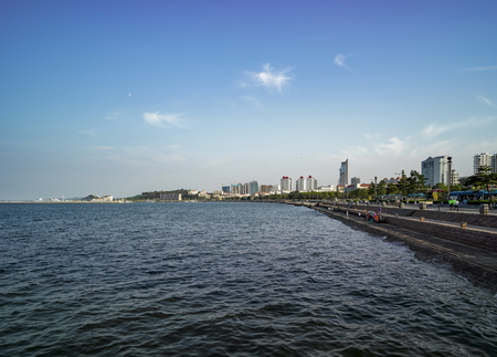 Chinas Shandong Province, Weihai City, the seaside scenery