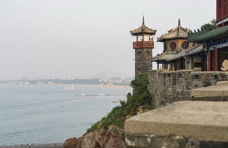 Pabellón de Shandong Penglai en China.a Foto de archivo - 88028202