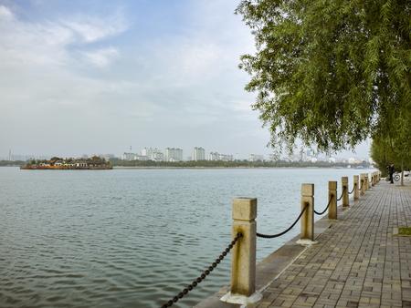 Dongchang Lake scenery at Liaocheng City, Shandong Province, China.