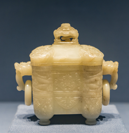 China, Tianjin, Tianjin Museum, collection of cultural relics, the Qing Dynasty, Baiyu two ears furnace