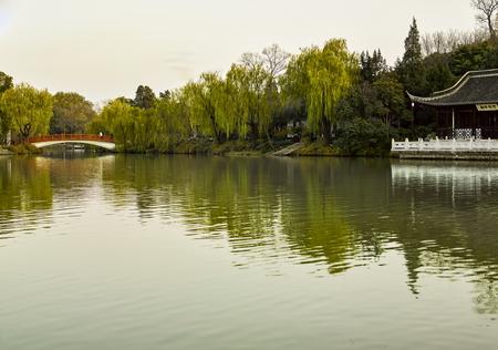 The scenery of China, Jiangsu Province, Yangzhou City, Slender West Lake