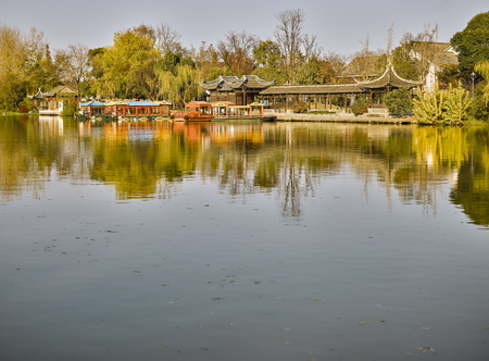 The landscape scenery view of West Lake, China Stock Photo
