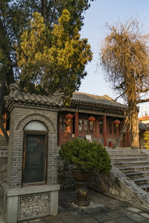 Dai Temple, palace of Emperor Qianlong at Shandong Province, Taian City. Editorial