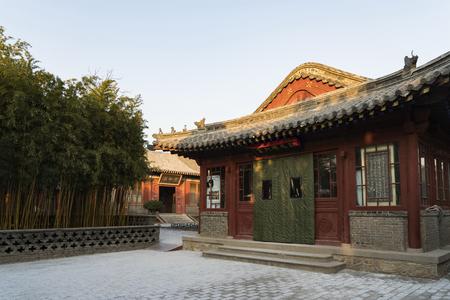 Dai Temple, palace of Emperor Qianlong at Shandong Province, Taian City. Editorial