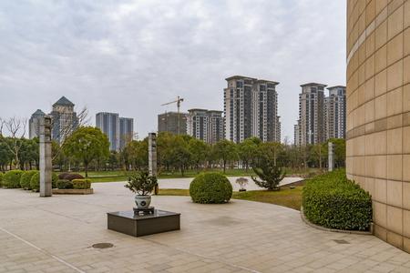 High rise buildings in Jiangsu, Yangzhou Stock Photo