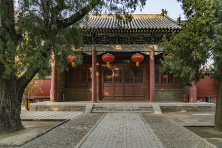 Taishan Temple at Taian City, Shandong Province. Stock Photo