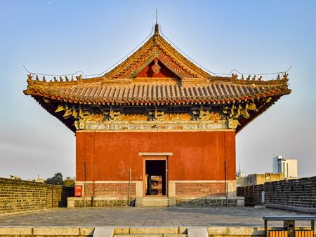 Taishan Temple at Taian City, Shandong Province. Stock Photo