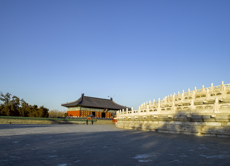 Beijing city of China, Huangqian Hall of Tiantan Park Editorial