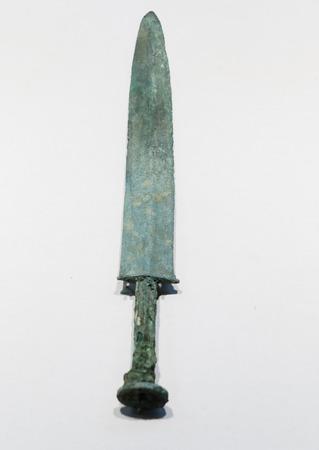 collection of cultural relics warring States of copper sword in Xuzhou Museum at Xuzhou, Jiangsu, ,China.