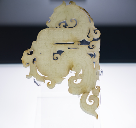 The Western Han Dynasty jade drago at Xuzhou Museum, Jiangsu Province, Xuzhou City, China. Sajtókép