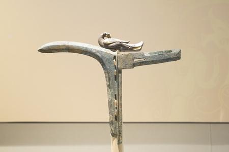 Western Han bird shaped copper Tango at Xuzhou Museum, Jiangsu Province, Xuzhou City, China.