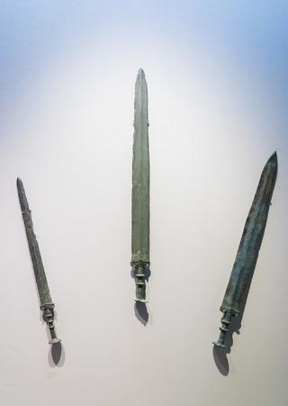 China, Jiangsu, Xuzhou, Xuzhou Museum, collection of cultural relics, Western Han, copper sword