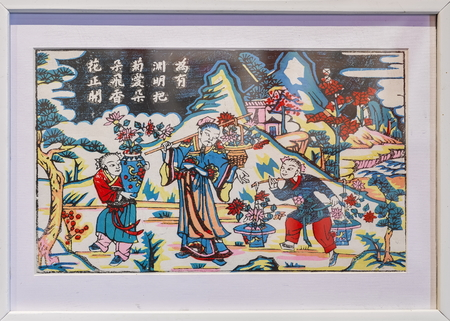 ancient painting at Wuqiang year painting Museum