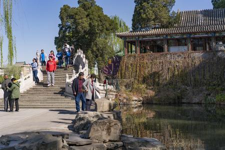 Beihai Park at Beijing, China.