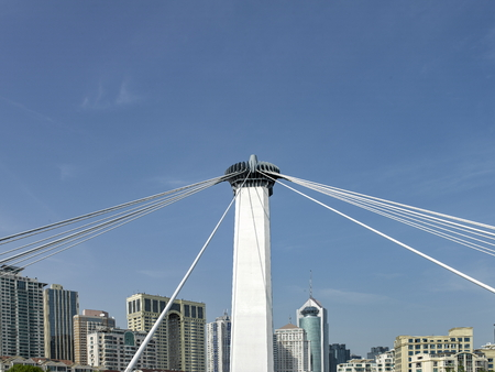 Cable-stayed bridge at qingdao city Editorial
