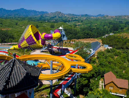 Water theme park in Bailu Hot Spring Hotel,Shijiazhuang City, Hebei Province, China