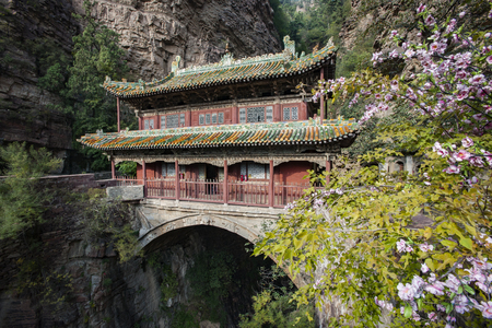 Bridge Hall at Cangyan Mountain,China, Hebei Province, Shijiazhuang City, Jingxing County. 報道画像