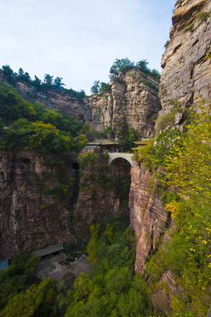 Bridge Hall at Cangyan Mountain,China, Hebei Province, Shijiazhuang City, Jingxing County. 写真素材