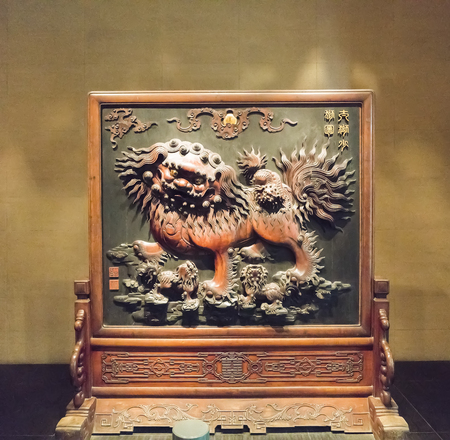 Ming Dynasty mahogany furniture at Shanxi Museum in Taiyuan City, Shanxi Province, China. 新聞圖片