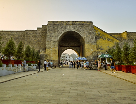 Dajingmen Great Wall Scenic Area at Zhangjiakou City, Hebei Province, China.