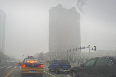 haze weather at Shijiazhuang City