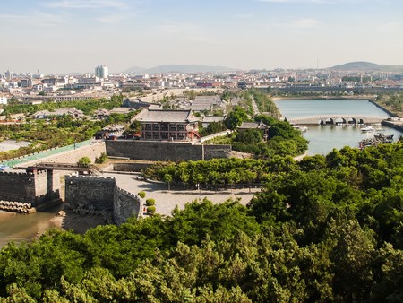 Penglai City coastal scenery