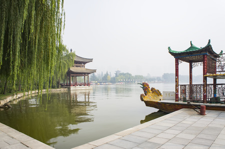 Datang Furong Garden at Qujiang, Xian City, Shaanxi Province, China.