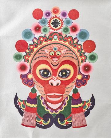 Collection of cultural relics Yuxian paper-cut traditional works in Weizhou Museum from Yu County, Zhangjiakou City, Hebei Province, China.
