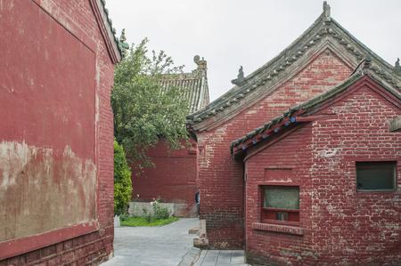 Tangyin Yuefei Temple Scenic Area at Anyang City, Henan Province, China. 版權商用圖片 - 110497666