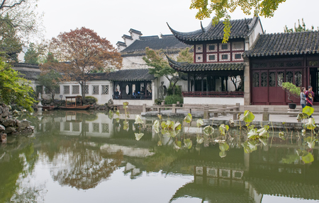 Liuyuan Scenic Area at Suzhou City, China.