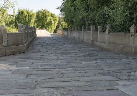 Ancient Stone Bridge in Sima Qiang Scenic Area, China.