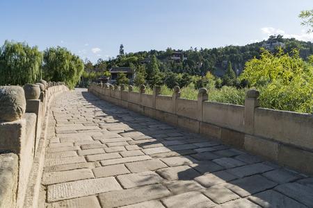 Ancient Stone Bridge in Sima Qiang Scenic Area, China. Stock Photo - 110993766