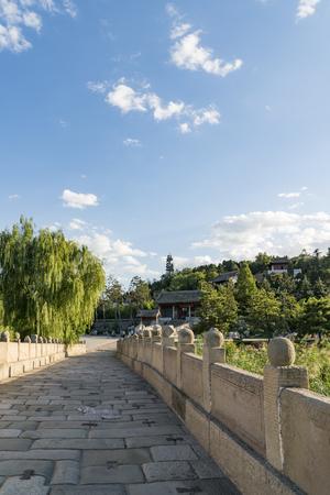 Ancient Stone Bridge in Sima Qiang Scenic Area, China. Stock Photo - 110993767