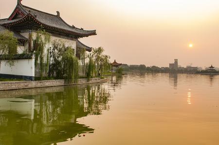 Chaifu garden scenic area at Shandong province, China.