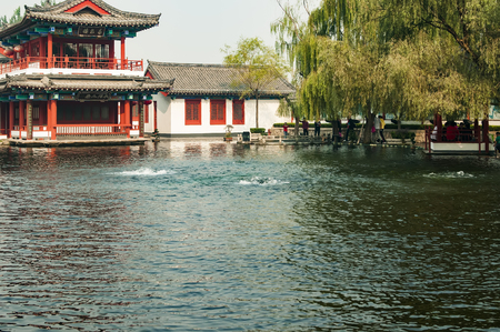 Baimai Spring Scenic Area at Shandong province, China. 新聞圖片