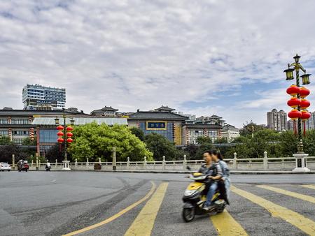Xian street view at Shaanxi Province, China.