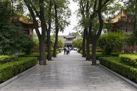 Xian Beilin Museum at Shanxi Province, China. 에디토리얼
