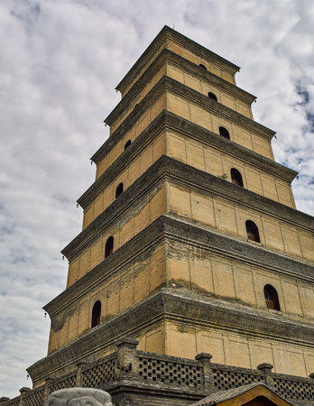 Giant Wild Goose Pagoda 写真素材 - 111567787