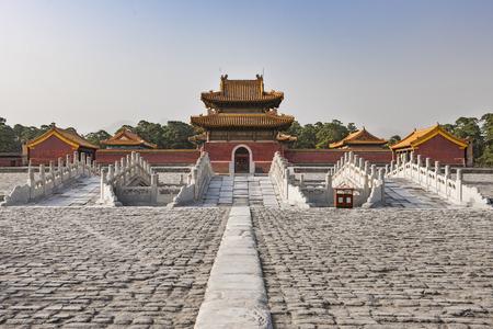 Qingxi Mausoleum in Baoding City, Yi County,Hebei Province, China Editorial