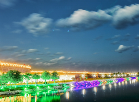 China, Hebei Province, Shijiazhuang City. Zhengding Ancient City Night