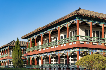China, Henan Province, Kaifeng City, China Hanyuan Scenic Area, Stele House Architecture 新聞圖片