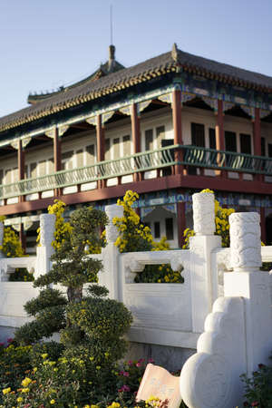 China, Henan Province, Kaifeng City, China Hanyuan Scenic Area, Stele House Architecture 에디토리얼