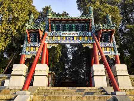 China, Beijing, archway at Summer Palace