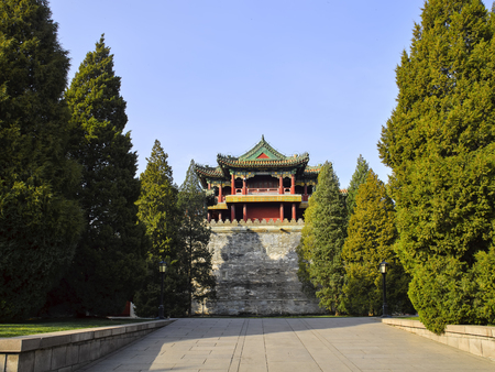 Wenhe Pavilion at Summer Palace, Beijing, China. 新聞圖片