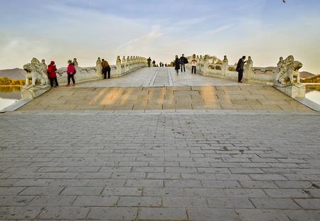 China, Beijing, the Summer Palace 17-hole bridge