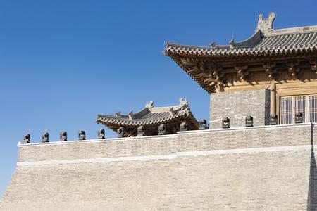 China, Hebei Province, Shijiazhuang City. Zhengding Ancient City Yanghe Building Stock Photo - 117656406