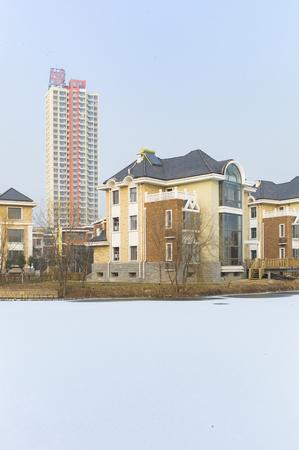 a villa area in Shijiazhuang Imagens