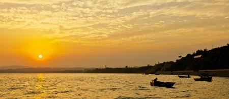 Henan, China, Jiyuan City, Yellow River Xitan Scenic Area 版權商用圖片 - 118024953
