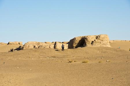 China, Inner Mongolia, Ejinaqi, Heicheng Historic Site